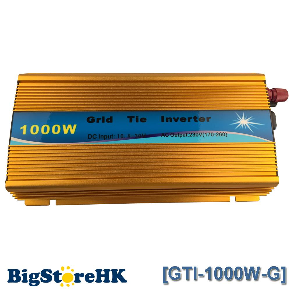 1000W MPPT Function 30V/36V Golden Grid Tie Inverter Pure Sine Wave 230V Output 60 72 CELLS Panel Input on Grid Tie Inverter(China (Mainland))