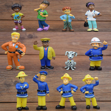 12 Pcs/Set Fireman Sam action figure toys 3-6cm Cute Cartoon PVC Dolls For Kids Christmas Gift(China (Mainland))