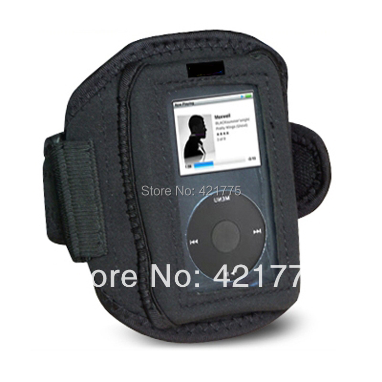 Sport Fitness Armband Cover Case for Apple iPod Classic Black running jogging Free Shipping(China (Mainland))