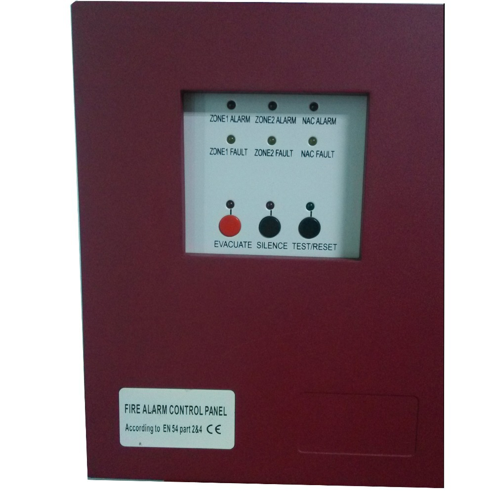 free shipping 2 Zones Fire Alarm Control Panel with AC power input Fire Alarm Control System Conventional Fire Control Panel