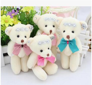 60pcs / lot mix color mini teddy bear plush toys stuffed animals soft toy littlest pet shop Diamond Teddy Bear(China (Mainland))
