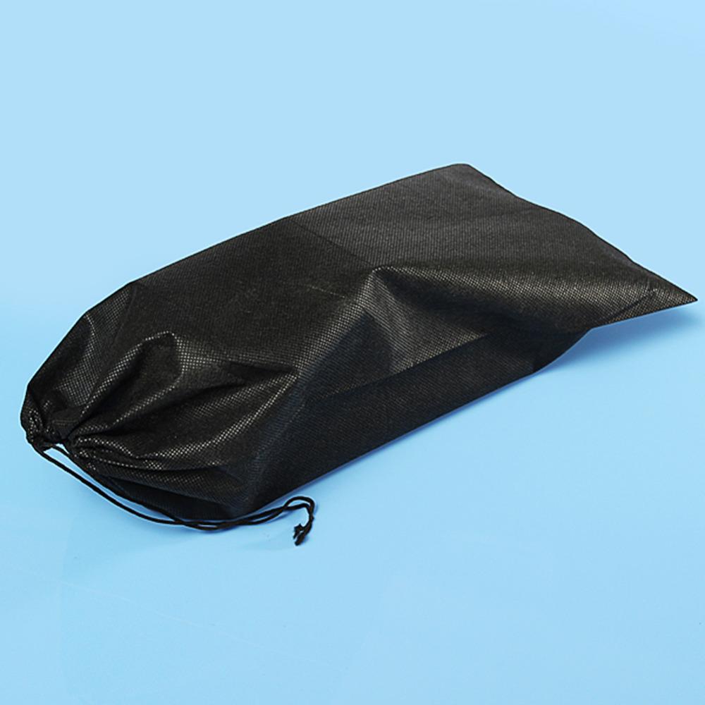 2 Colors Non-woven Shoes Bag Portable Travel Storage Bag Drawstring Dustproof Black White(China (Mainland))