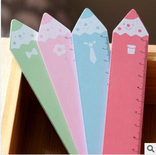 Kawaii Cartoon Cravat&Pocket Wood Straight Measure Ruler Office/school Stationery-Gift Novelty Items 10 - lisa ling's store