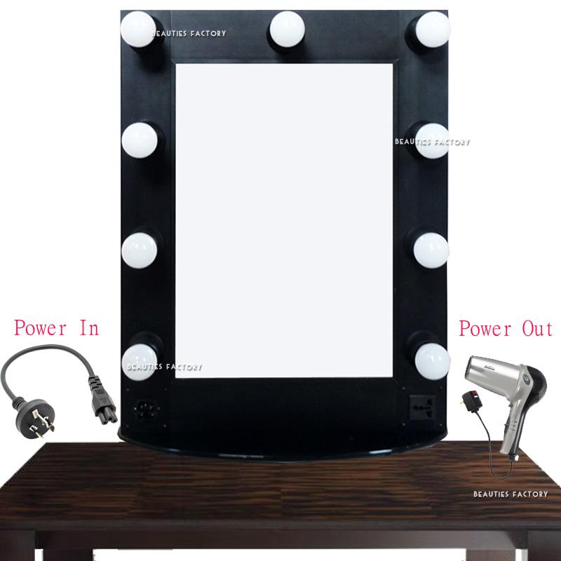 Beauties Factory Hollywood Vanity Makeup Table Mirror 3 Watt LED Bulbs(Hong Kong)
