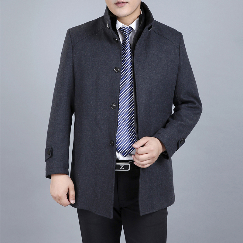 Clothing Wool & Blends Winter Coats Men Liner Detachable Single Breasted Mens Woolen Coats Double-layer Warm Overcoat Windproof(China (Mainland))