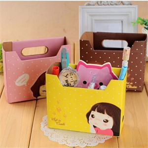 2014 New BL House Keeping DIY Paper Board Storage Box Convenient Jewelry Container Case Desk Decor LB(China (Mainland))