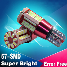 2X Car Light Cource Error Free T10 T15 W5W W16W Canbus 57 SMD 194 57SMD 57LED Light Bulb Car Reversing light Fog lights DRL(China (Mainland))