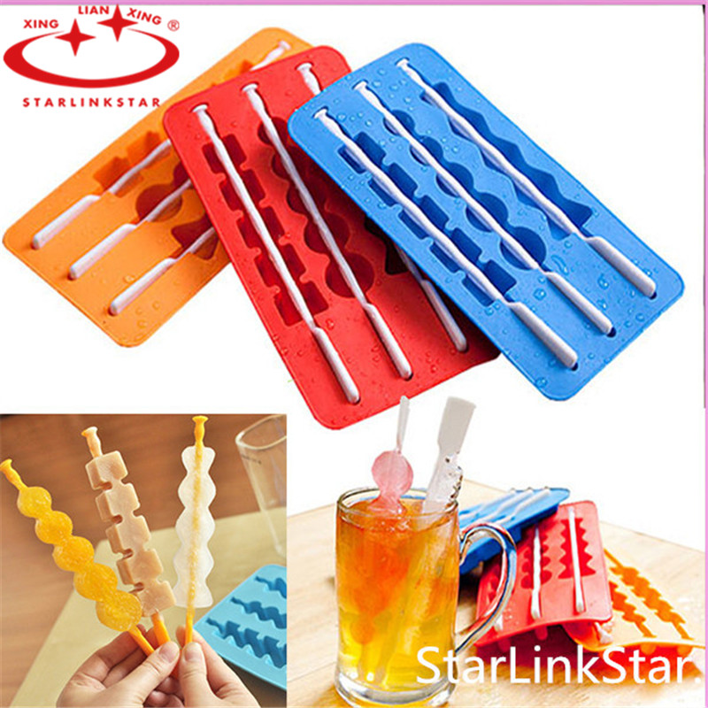 1Pcs Summer Style Ice Pop Makers Popsicle Molds Silicone Freezer Ice Cream Maker Mold Cooking Tools(China (Mainland))