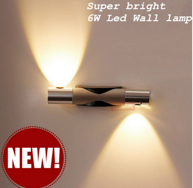 2016 Newest Modern LED Wall Light 6W Led Wall Light Bed Lamp Hotel Restroom Bathroom Bedroom Wall Lamp Warm/Cold White 85-265V(China (Mainland))