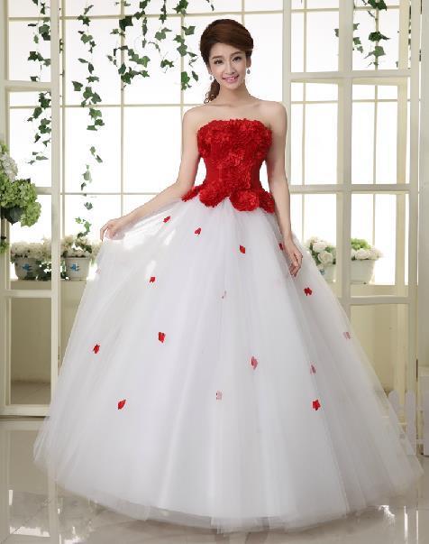 Бесплатная доставка 2016 нью-line цветы рукавов красного атласа свадебные свадебное ...