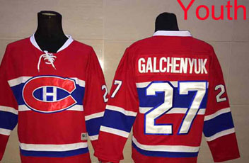 2016 New Youth/Kid's Montreal Canadiens #27 Alex Galchenyuk Jersey Red Hockey Ice Jerseys,100% Stitched,Top Quality(China (Mainland))
