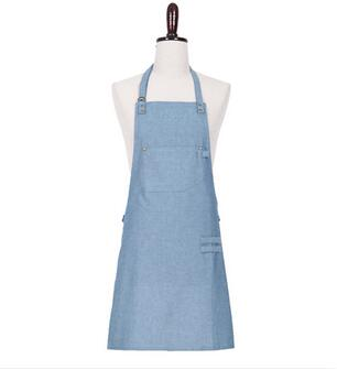 Hot selling SVANN short apron hanging neck unisex denim Korean fashion antifouling bread coffee shop pastry shop qy145(China (Mainland))