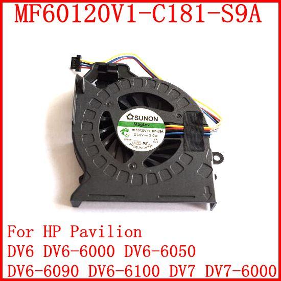 New MF60120V1-C181-S9A AD6505HX-EEB For HP Pavilion DV6 DV6-6000 DV6-6050 DV6-6090 DV6-6100 DV7 DV7-6000 CPU Cooling Fan(China (Mainland))
