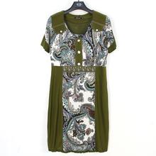 BFDADI Женские летние платья 2016 с коротким рукавом винтаж цветочный принт женское платье свободного покроя офис платья Большой размер 4xl-5xl платье 2136(China (Mainland))