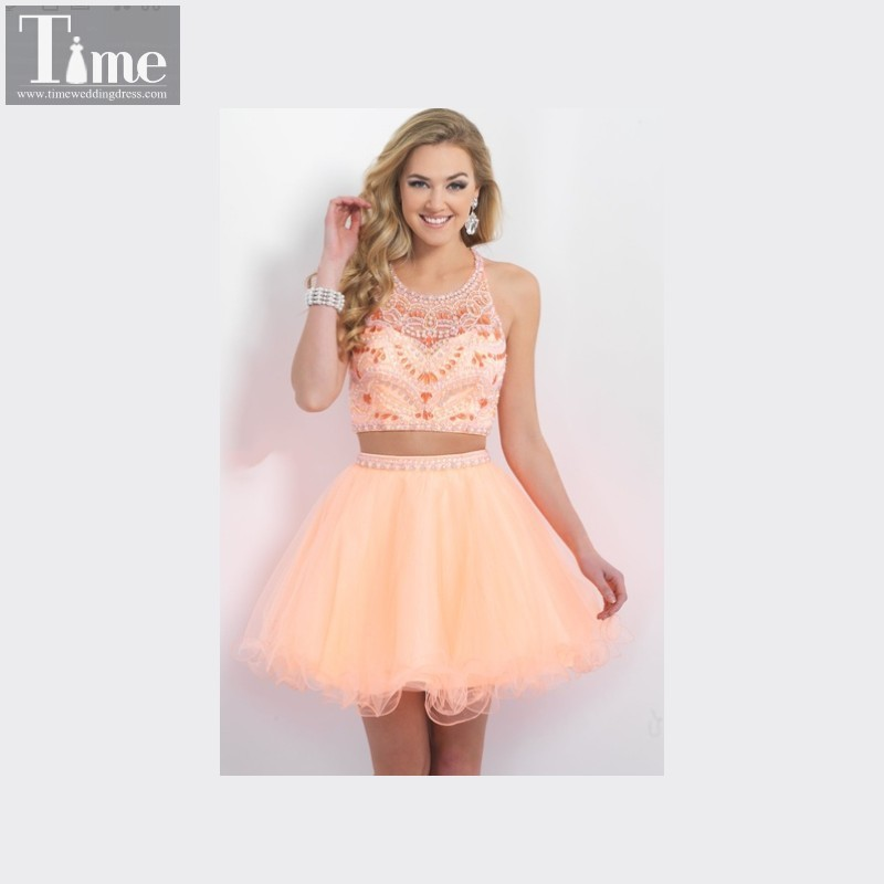 Peach Homecoming Dresses 87