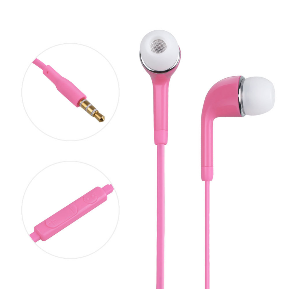 Candy Color 3.5mm In-Ear Wired Earphone Hand free Headphones Headset Earbuds With Mic For SAMSUNG GALAXY S3 for Xiaomi for HTC(China (Mainland))