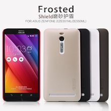 Original Nilkin Super Frosted Shield Hard Back PC Cover Case Asus Zenfone 2 ZE551ML ZE550ML Phone + Screen Protector - Shenzhen Betop Co.,Ltd. store