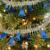 Four colors 200cm ribbon shining bells Christmas hanging Decoration