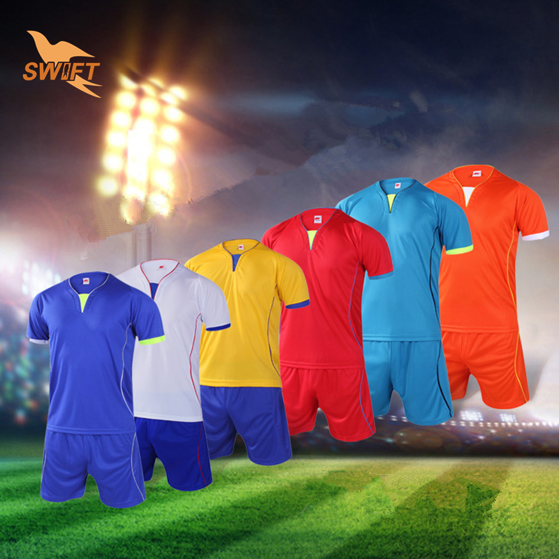 Brand New Breathable Quick Dry Farbric Adult Soccer Set 2016 DIY Soccer Uniforms Football Kit Football Tracksuit Sport Jerseys(China (Mainland))