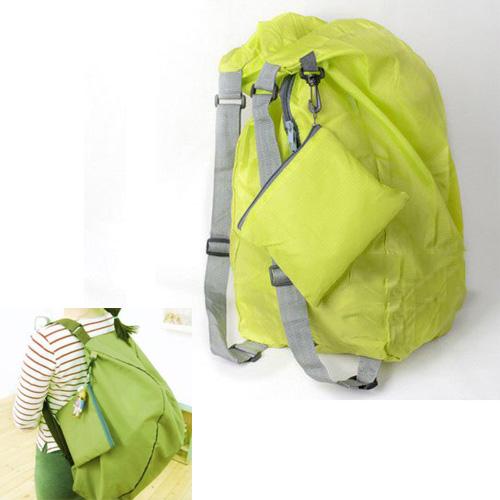 ASDS Green Multifunction Convert Foldable Storage Bag Shoulder Bags Backpack(China (Mainland))