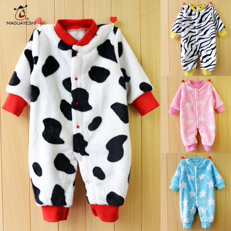 Winter Baby Clothes Pajamas Newborn Baby Rompers Infant Cotton Long Sleeve Jumpsuits Boys Girl bebes Clothes For Chirstmas Party(China (Mainland))