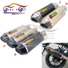 2016 Universal motorcycle exhaust muffler exhaust pipe for honda CBR YZF YBR TTR 200cc 250cc 300cc 400cc(China (Mainland))