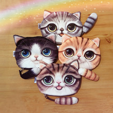 2016 New Small Tail Cat Wallet Phone Bag Women Kids Cartoon Phone Kawaii Bag Phone Pouch Gift for Children(China (Mainland))