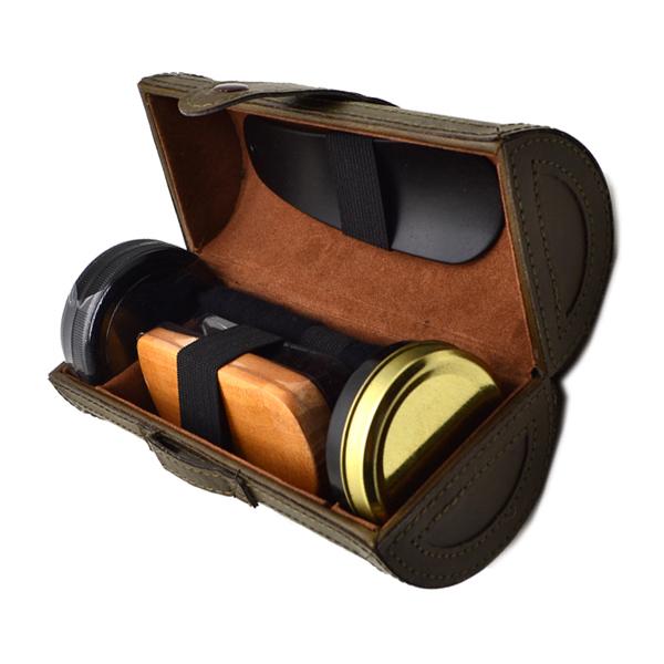 Professional Shoe Care Tool Kit Outdoor Travel Shoe Shine Polish Smooth Wooden Brush Cleaning Set(China (Mainland))