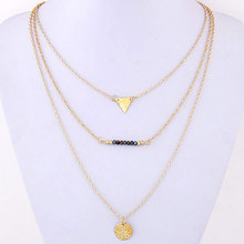 Fashion Multi Layer Necklaces Pendants Gold Chain Initial Maxi Collar Collier Femme Jewelry for Women Bijoux
