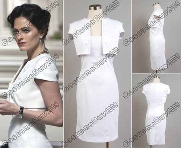 New Arrival Custom Made Sherlock Holmes The Woman Irene Adler Costume White Dress Cosplay Costume For HalloweenОдежда и ак�е��уары<br><br><br>Aliexpress