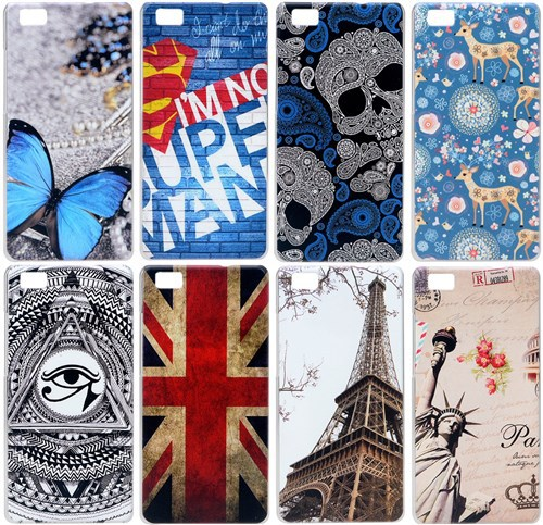 2015 New Perfect Design Painting Pattern Huawei Ascend P8 Lite Case Plastic Back Cover For Huawei P8 Lite Cover Hot Selling(China (Mainland))