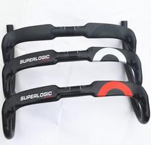 2016 design full carbon handlebar carbon fiber road bike handlebars bent bar 3k gloss finish 40/42/44cm only 200g inner cable(China (Mainland))