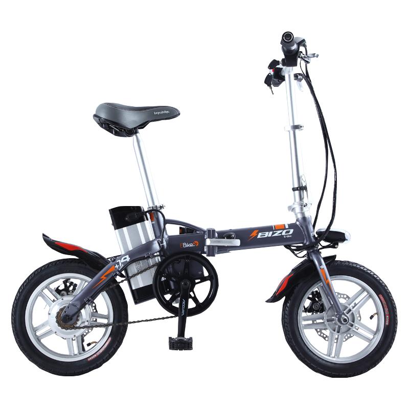 BIZOBIKE SPORT 14inch Mini Electric Foldable Bicycle 15Ah Lithium Battery 48V 250W Hub Motor