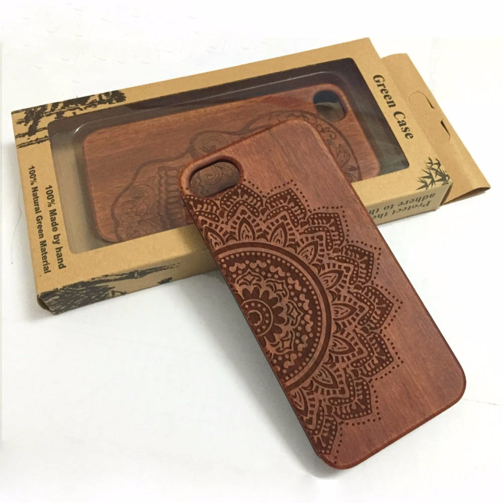 For Apple iPhone 6 6s 4.7 inch Fashion luxury flower 100% real Wood Bamboo back Cover Case for man(China (Mainland))