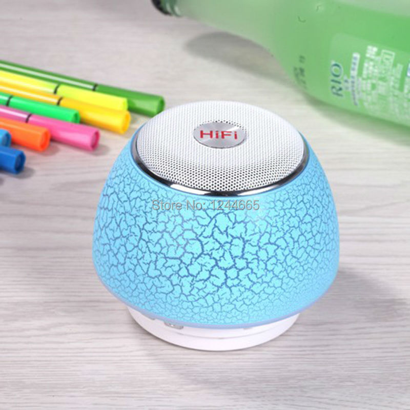 Wireless Bluethooth Speakers Computer Speaker LED lights Stereo Portable Audio Player Handsfree with Mic Support USB SD TF Card(China (Mainland))