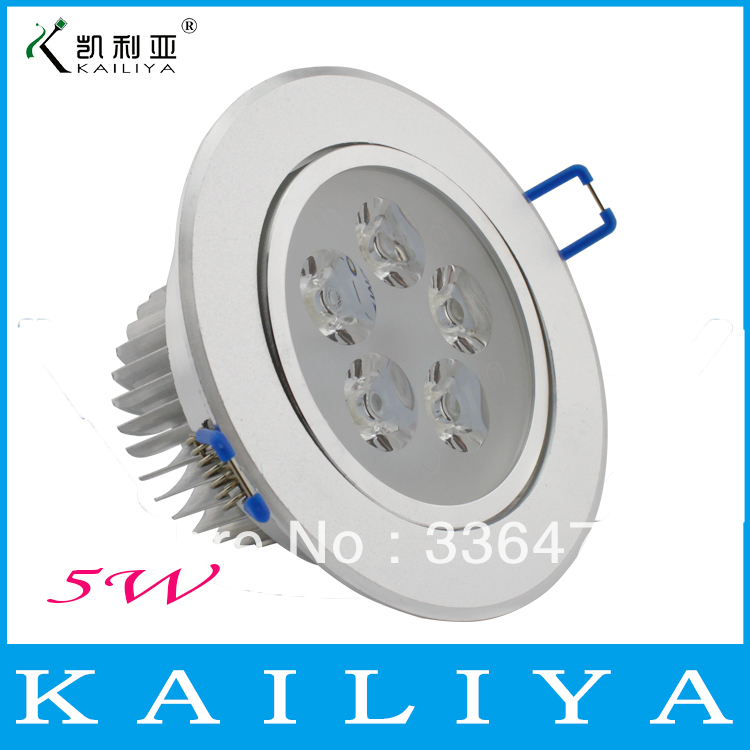 8pcs Free shipping 5w ceiling down light lamp bulb,led recessed surface mounted 500lm led 2 years warranty TH07(China (Mainland))