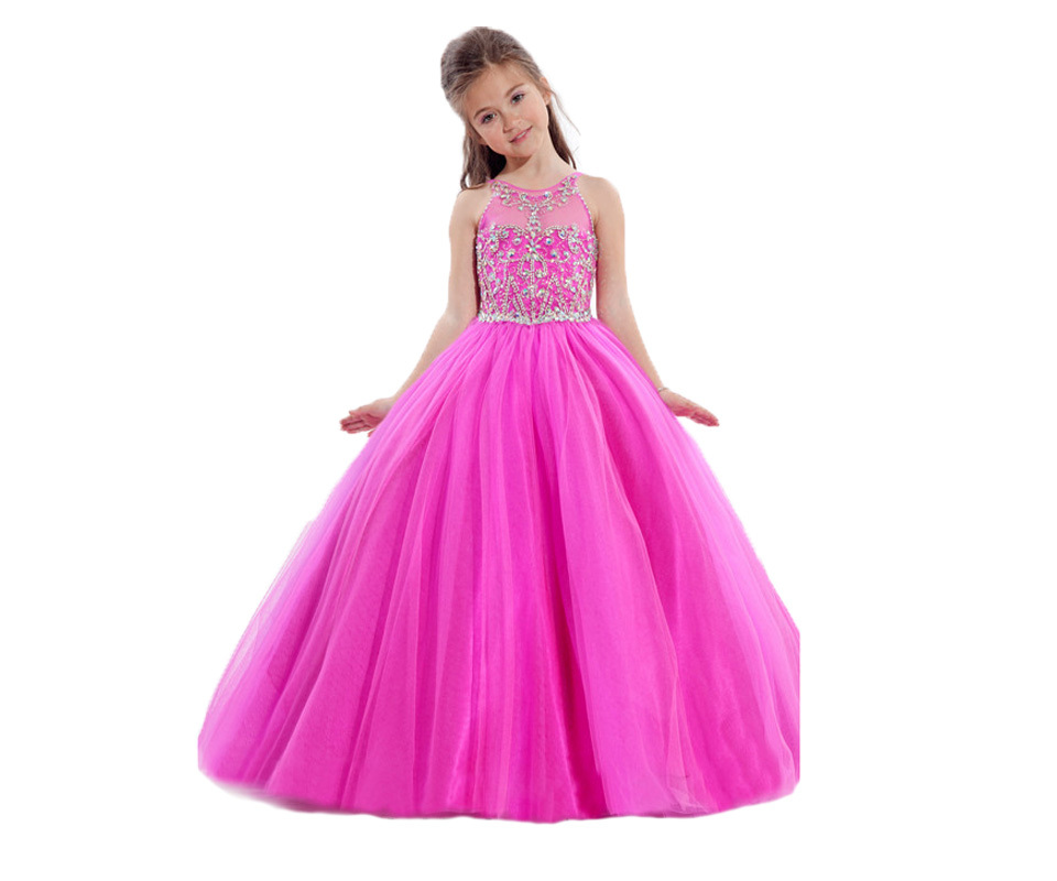 High Quality Girls Long Pageant Dress-Buy Cheap Girls Long Pageant ...