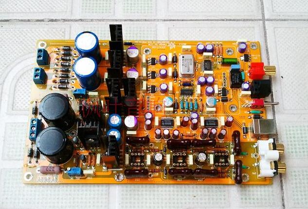 Paralle PCM1794 Xmos CM6631 USB sound card coaxial optical Fiber USB DAC I2S 24bit 192K HIFI DAC DIY amplifier board<br><br>Aliexpress