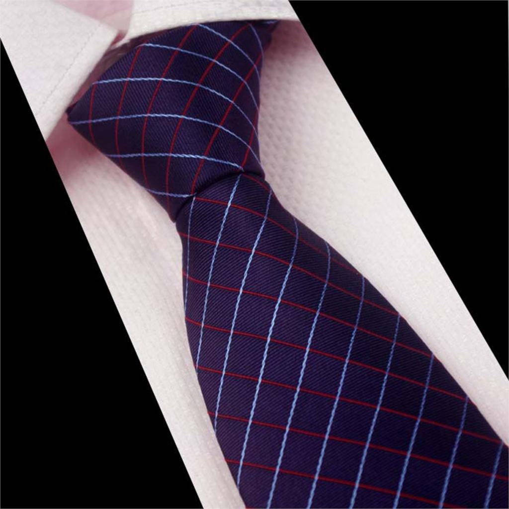 New Arrival Men s Jacquard Weave font b Tartan b font Pattern Tie Necktie business wedding