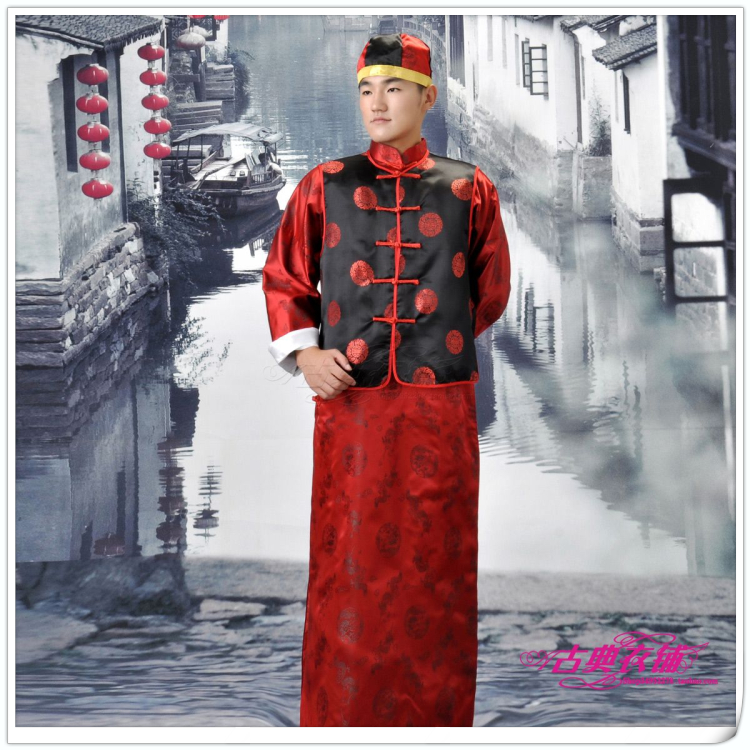 Hot-selling autumn and winter long-sleeve men tang suit  clothes groom wear chinese  long costume  Free shippingОдежда и ак�е��уары<br><br><br>Aliexpress