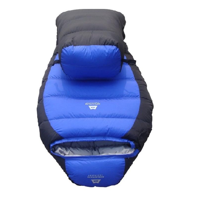 Фотография Ultralight camping sleeping bag Mummy Bag white duck down sleeping bag goose down sleeping bag for 2.3KG free shipping