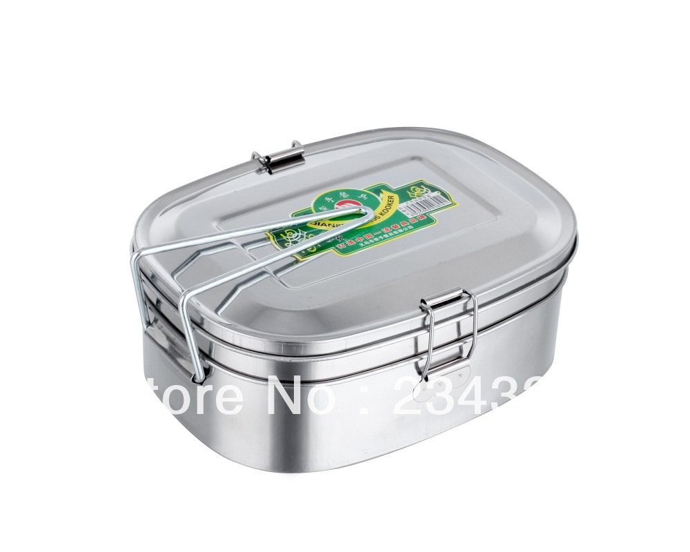 Gag square stainless steel magnetic lunch box food Snack large Size - HAN BO Shopping Center store