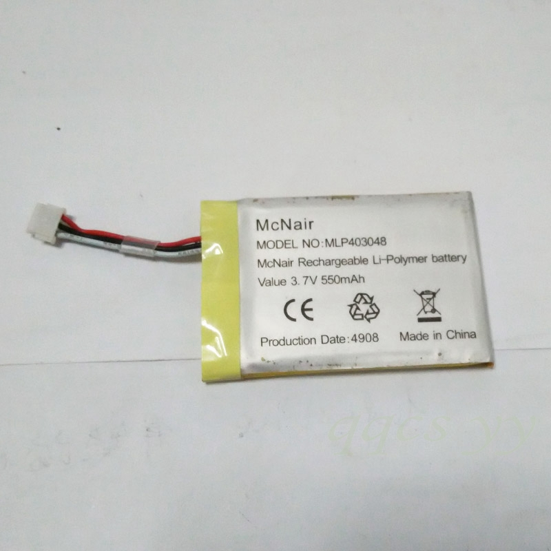 USED replaced Lithium Li-ion Battery for McNair MLP403048 3.7V 550MAH For Mp3 bluetooth headset pen GPS(China (Mainland))