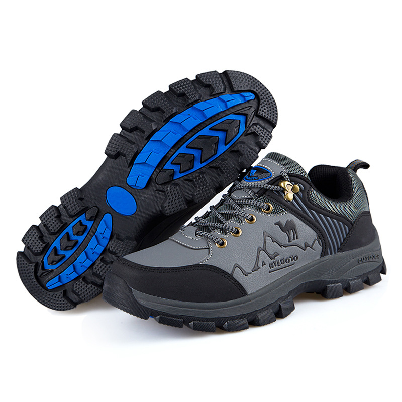 2016 sneakers hiking shoes pu leather waterproof