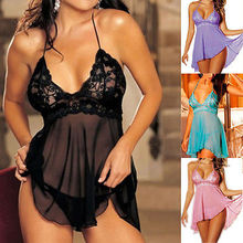 Sexy Lingerie Nightwear Underwear Ladies Sleepwear Babydoll + G String Lace