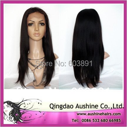 2015 Rushed Limited Kinky Straight Full Lace Wig Free Shipping! Fashion Virgin Malaysian Hair Lace Front Wig Full 150% Density(China (Mainland))