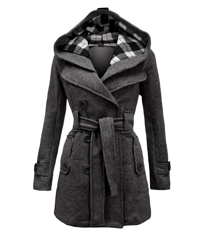 Lady Warm Autumn Winter Coat women Double-breasted Hooded mantle Long Jacket Wool Blends Outwear chaquetones de mujerОдежда и ак�е��уары<br><br><br>Aliexpress