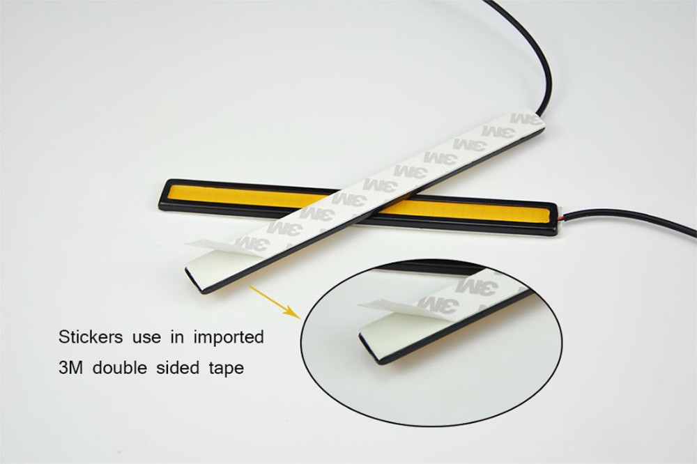 2pcs/set 17cm Car Auto DRL Daytime Driving Running COB Chip LED  Fog Light Lamp