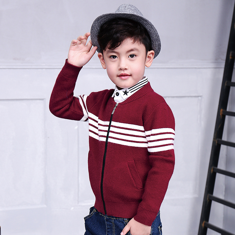 Pioneer Kids Autumn\Winter boys outerwear Casual Knit Zipper Sweatercoat Boy Turtleneck Sweaters knitting pattern baby cardigan(China (Mainland))
