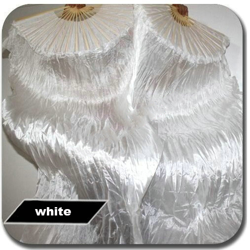 2015 Best selling women silk belly dance fan veils of belly dance fans white 180*90cm(China (Mainland))
